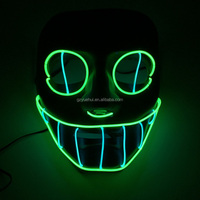 New Design Halloween Party Mask Fashion Led Strip Luminous Masquerade Skeleton Mask Evening Party Performance Prop Free Shipping