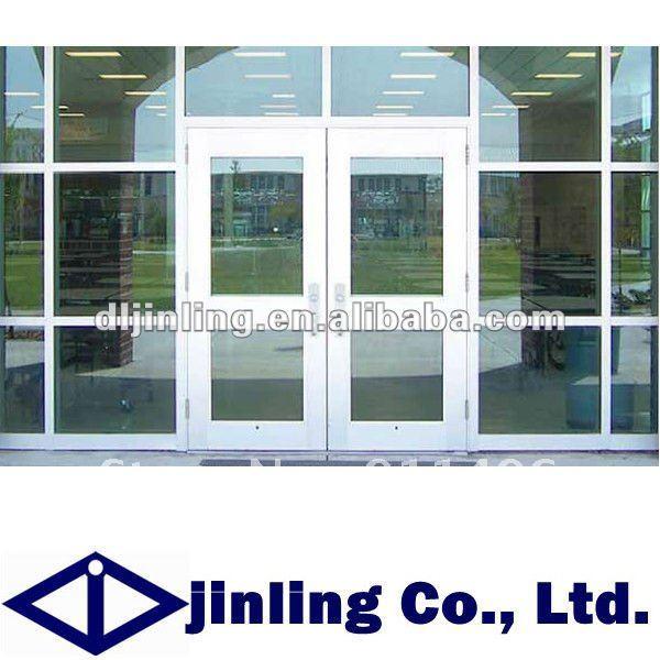 Aluminum commercial double glass doors aluminum glass - Commercial aluminum exterior doors ...