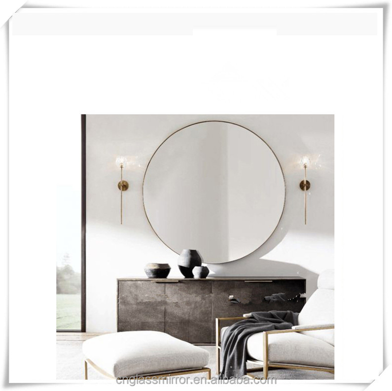 Factory Frameless wall mirror with bevel edge/polishing edge