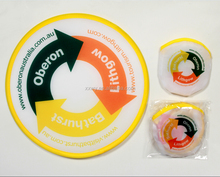 Cute /Mini Custom Soft Polyester Foldable Frisbee With Pouch