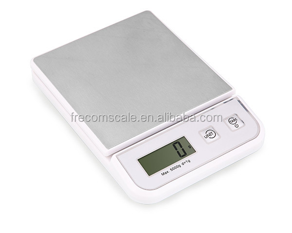 hotsell household digital kitchen scale stainless steel platform 5kg food scale electronic food weighing 1g