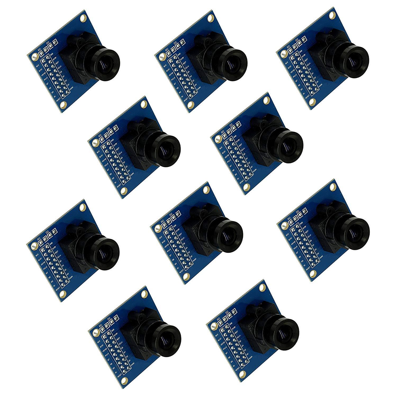 Optimus Electric 10pcs OV7670 Image Sensor Processor VGA Camera Module with Saturation, Hue, Gamma and White Balance Adjustment Capability from