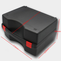 Widely used large outdoor premium clip-lock type plastic tool box with foam inside for accessories