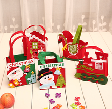 Hotsale children's 비-짠 fabric gift candy bag tote bag <span class=keywords><strong>담요</strong></span> apple 백 컬러 풀 한 장식 아이템 HX181106-12