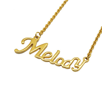 Olivia Custom Arabic Calligraphy accessories women personalized name gold Jewelry Necklace