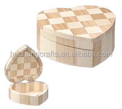 heart shape chocolate small <strong>wooden</strong> jewelry boxes