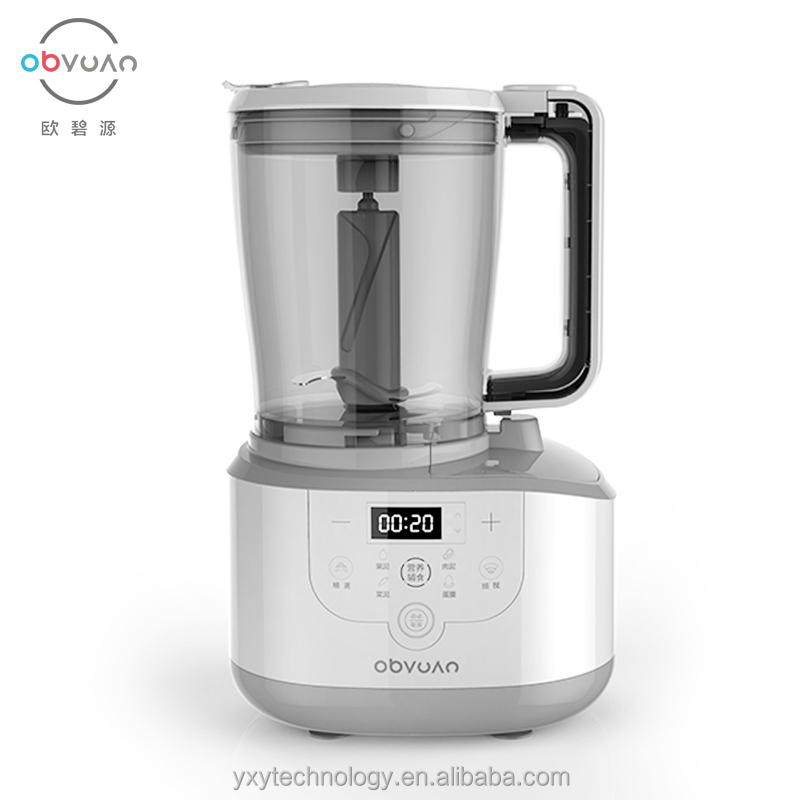 Obyuan One Step Baby Food Maker,Whole Automatic Smart System,Gray F30DX-D01