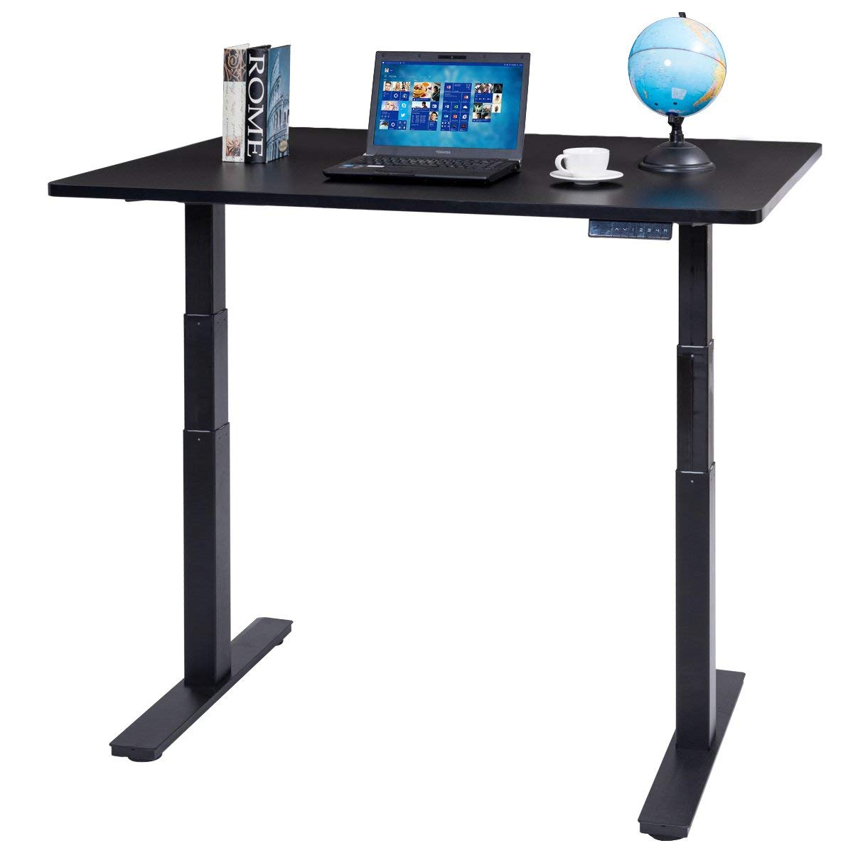"""Tangkula Standing Desk 53"""" 7-Button Height Adjustable Electric Sit-to-Stand Desk (dual motor)"""