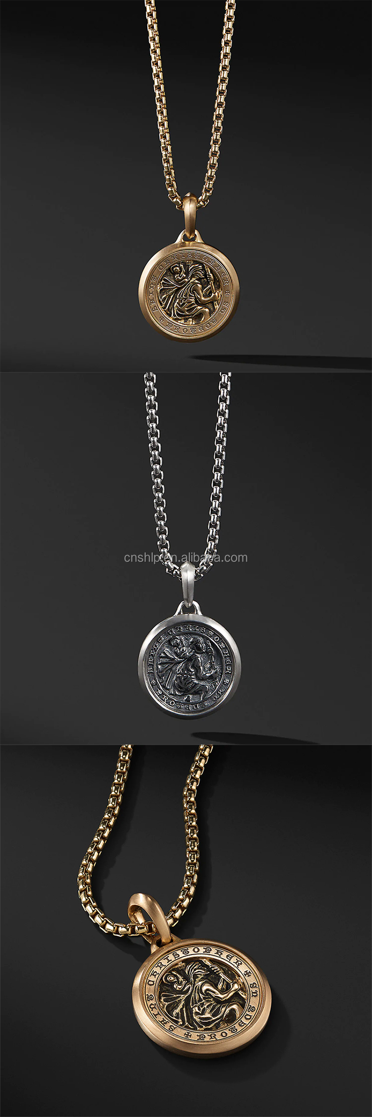 Custom your own metal women men charm pendant necklace