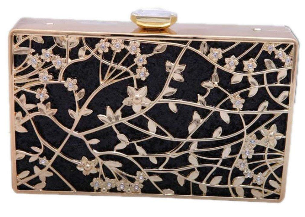 24d0bbf26 EKDJFG Women Flower Diamond Evening Bag Metal Crystal Wedding Bridal Party  Purse Day Chains Handbags Shoulder