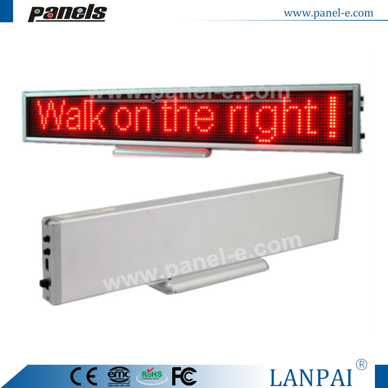 LANPAI Hot Sales Customized Size Promotion 338 x 54 x15mm B16128AR Mini Led Sign Board