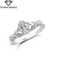 574549f56b41 irish claddagh ring Promociones. 128. Nuevo diseño de alta calidad venta al  por mayor joyería de moda  span class