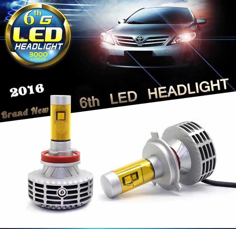 China Supplier 12v 24v H4 L7 6600lm Xhp70 Led Headlight