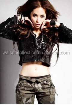 f7568d4ffc8 China walsoncollection bling bling sexy performance dress short tops women  jazz dance costume