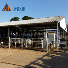 Prefabricated Low Cost Light Steel Cow Farm House Shed Building for Sale