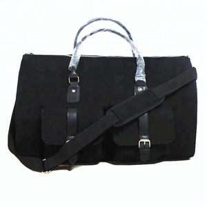 Black Canvas Suit Travel Garment Weekender Duffle Bag