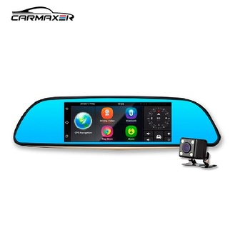 car dvr android 51 rearview mirror gps wifi dash parking monitor android car dvr with obd line