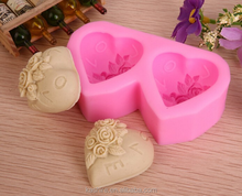 Silicone DIY 3D double rose Mold Cake Chocolate Decorating Baking Mould,diy kitchen silicone cake mould,soap mold