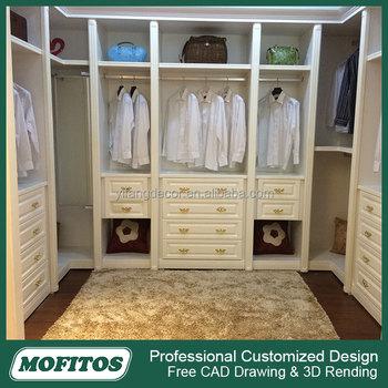 Factory Price Open Wardrobe Closet Morden Design With Mirror