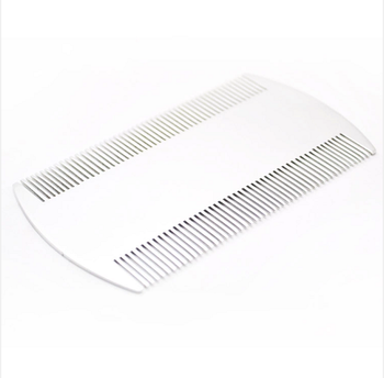 whole sale cheap stainless steel Hair salon equipment anti-lice comb /metal lice comb