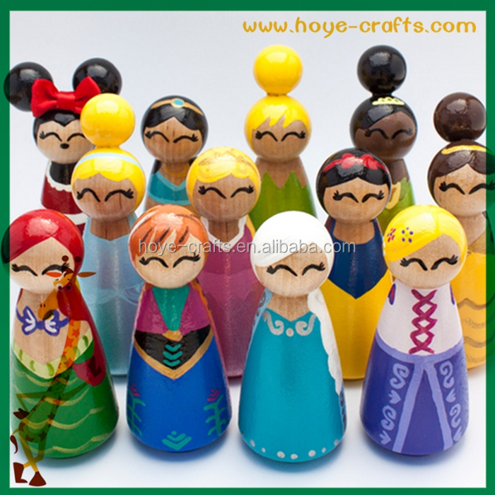 Children Toys Princess Peg People Hand Painted Wooden Peg Dolls Buy Peg Dollsprincess Peg Peoplehand Painted Wooden Peg Dolls Product On