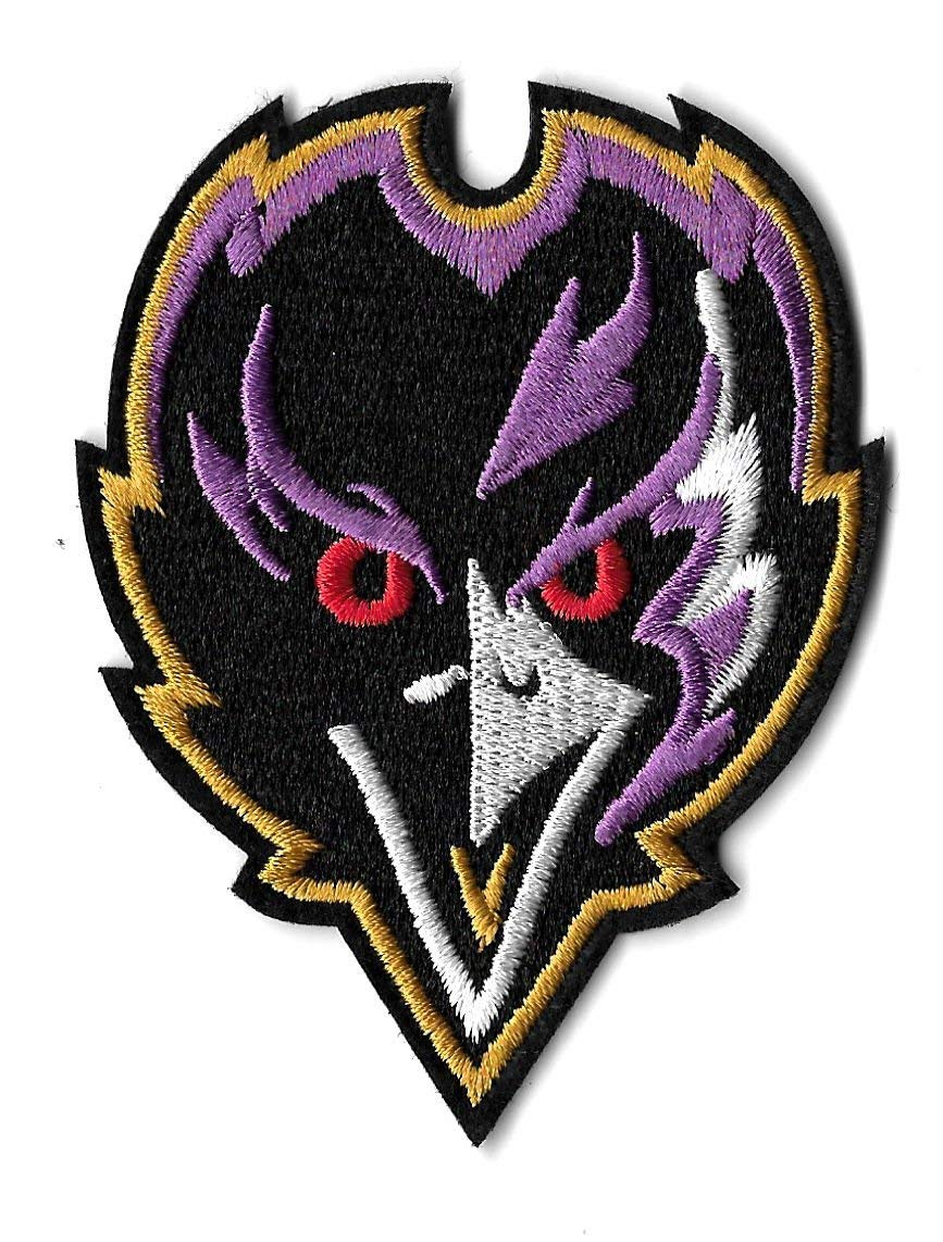 e8b7dd3f29b41d Get Quotations · Embroidered Patch- Patches for Women Man- Cool Patches-  Ravens - Baltimore