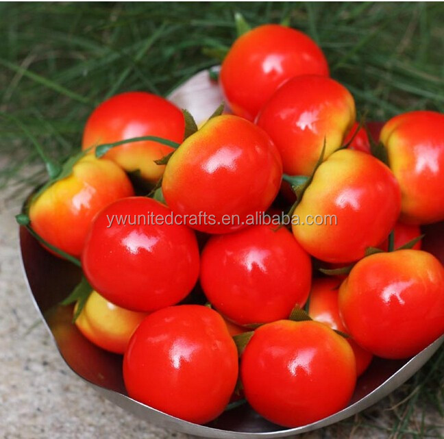 Cheap Wholesale Artificial Decorative Vegetable Plastic Fake Tomato
