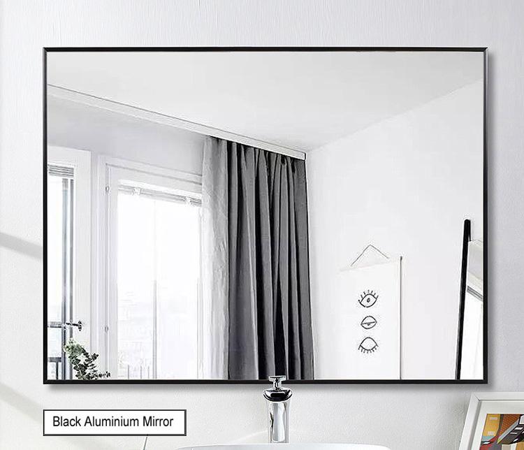 Новое поступление декоративные настенные зеркала с алюминиевой металлической рамкой с черной рамой