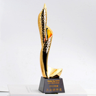 Unique design gold resin crystal award trophy for custom