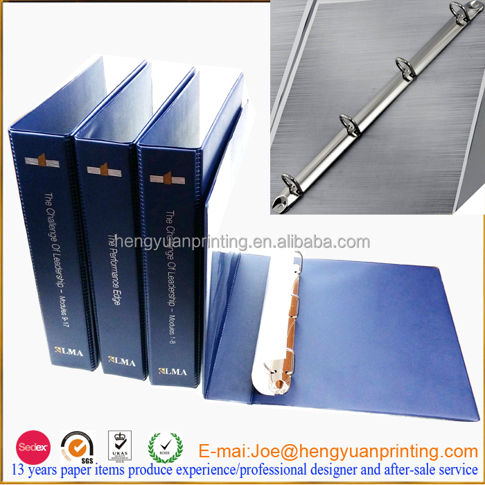 3 ring pocket folders plastic folder with customize logo printing and pocket