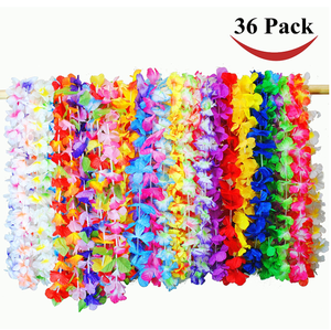 Party Favors Toy 36 Counts Tropical Hawaiian Luau Flower Lei