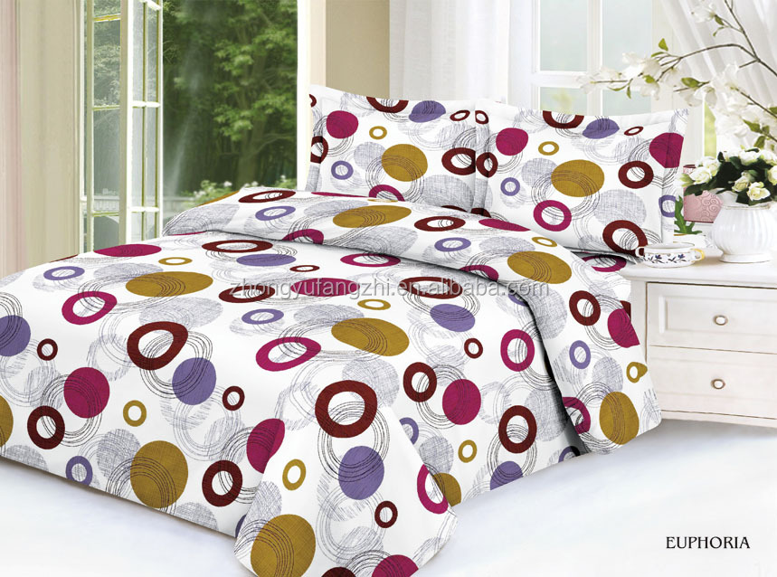 Polyester microfiber fabric with printing & two sides brushed for bed linen