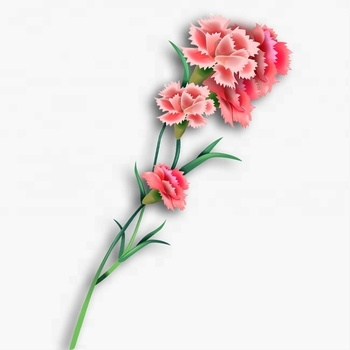 The Newest China Suppliers Artificial Red Carnation Flower For