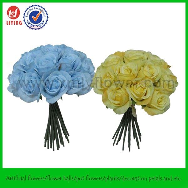 "11"" Wholesale Fake Flowers Wedding Bouquet,Customized Artificial Flower Rose,Bridal Holding Rose Flowers"