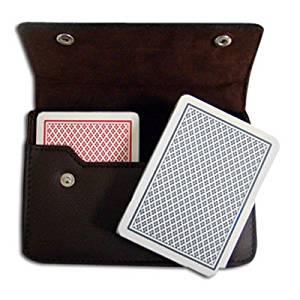 Copag Plastic Cards Leather Case Set Poker Dual Index