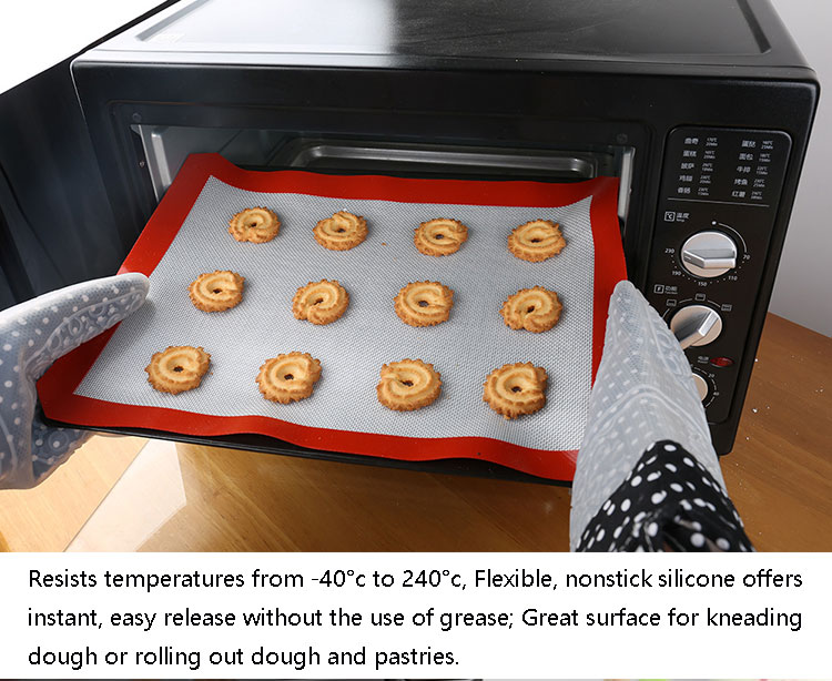 Wholesale non stick custom fiberglass kitchen envy oven silicone baking mat sets
