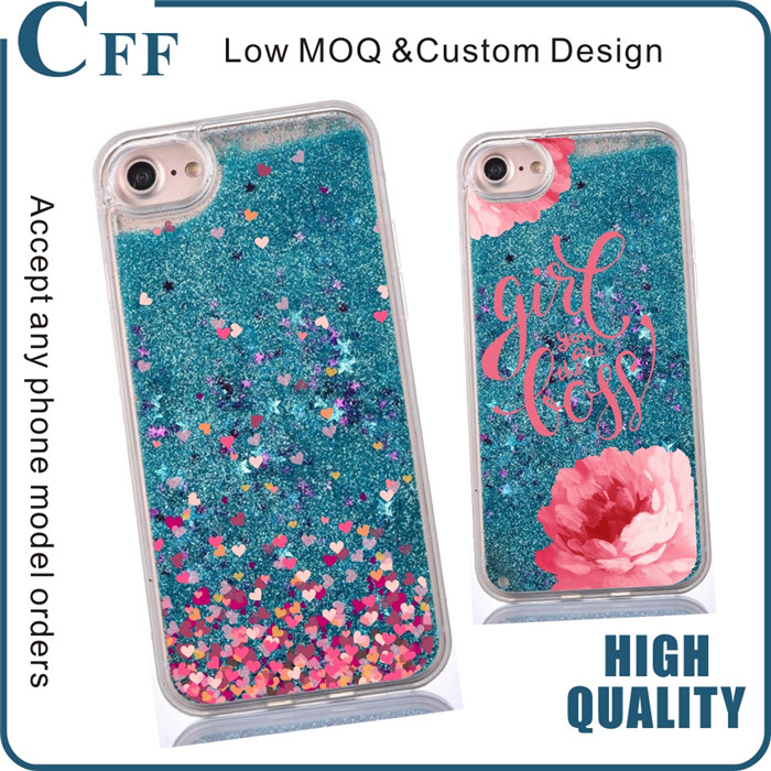 2017 New glitter water bling liquid case for iphone 7 case 6 phone plus