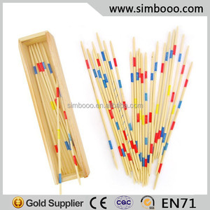 Wooden Mikado Spiel Chopsticks Pick Up Stick Game Educational Toys