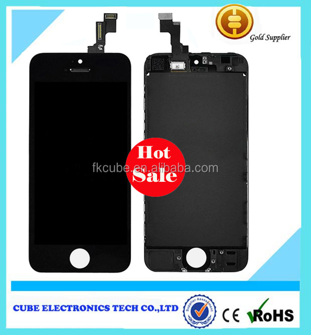 LCD Display with Touch Screen Digitizer Assembly Replacement for iPhone 5S OEM