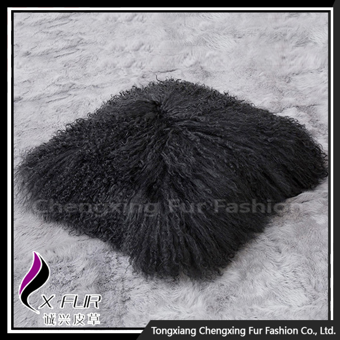 CX-D-04 Mongolian Lamb Fur Chair Cushion Cover