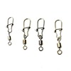 Wholesale High Quality Barrel Swivel With Inter Lock Snap Connector Solid Rings Fishing