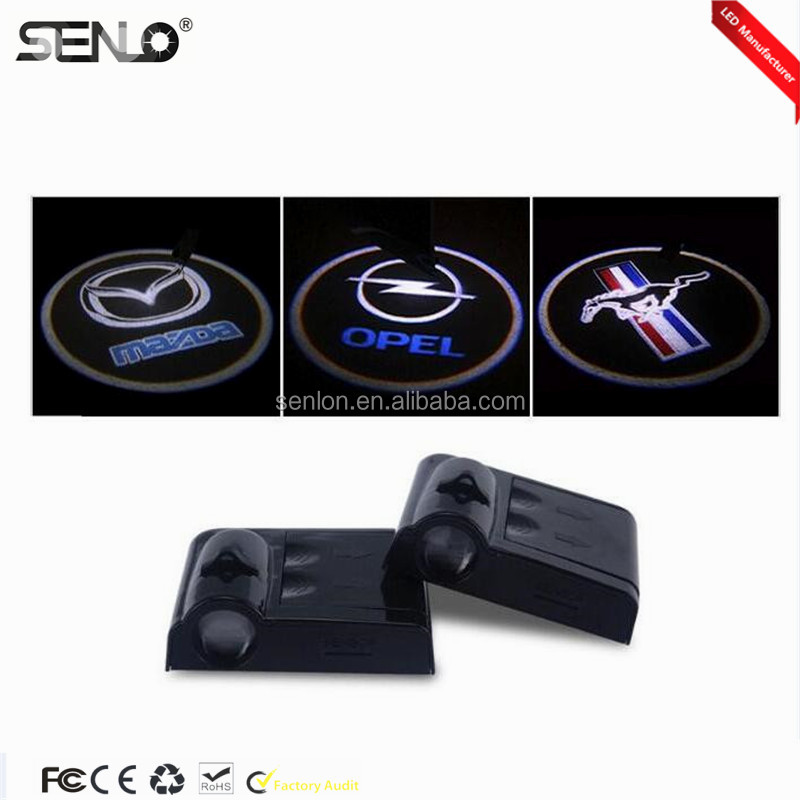 Car auto Door LOGO Welcome Badge Lights LED Laser Ghost Shadow Projector for AUDI CHEVROLET BMW FORD HONDA RENAULT VW TOYOTA