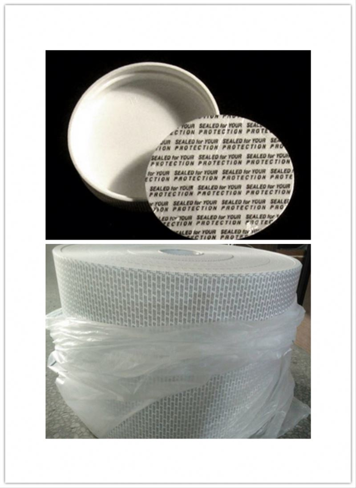 20-400 white polypropylene (PP) lid and includes an F217 liner as well as a printed pressure sensitive (PS) liner.