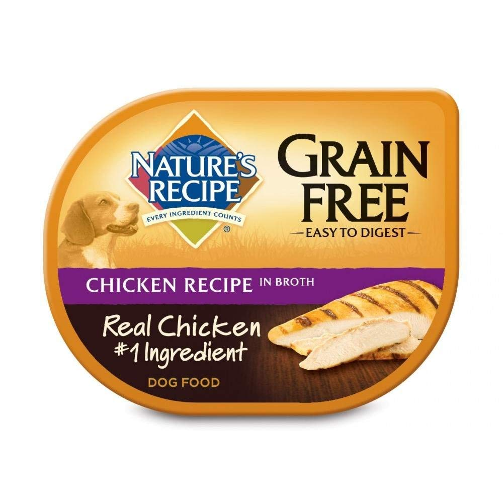 Nature's Recipe Grain Free Chicken Recipe In Broth Wet Dog Food, 2.75 oz