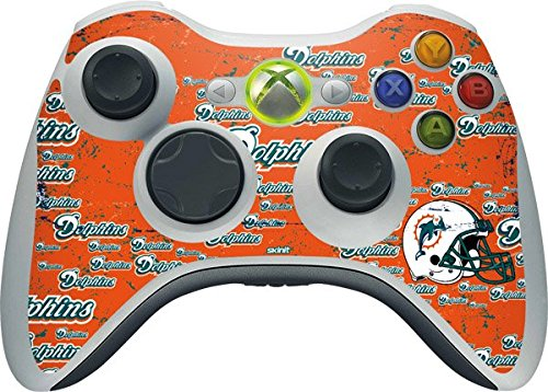 NFL Miami Dolphins Xbox 360 Wireless Controller Skin - Miami Dolphins - Blast Vinyl Decal Skin For Your Xbox 360 Wireless Controller