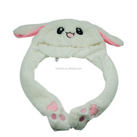 2019 New Style Popular Lovely Plush Hat Long Ear Moving Dancing Rabbit Animal Cute Rabbit Ear Hat