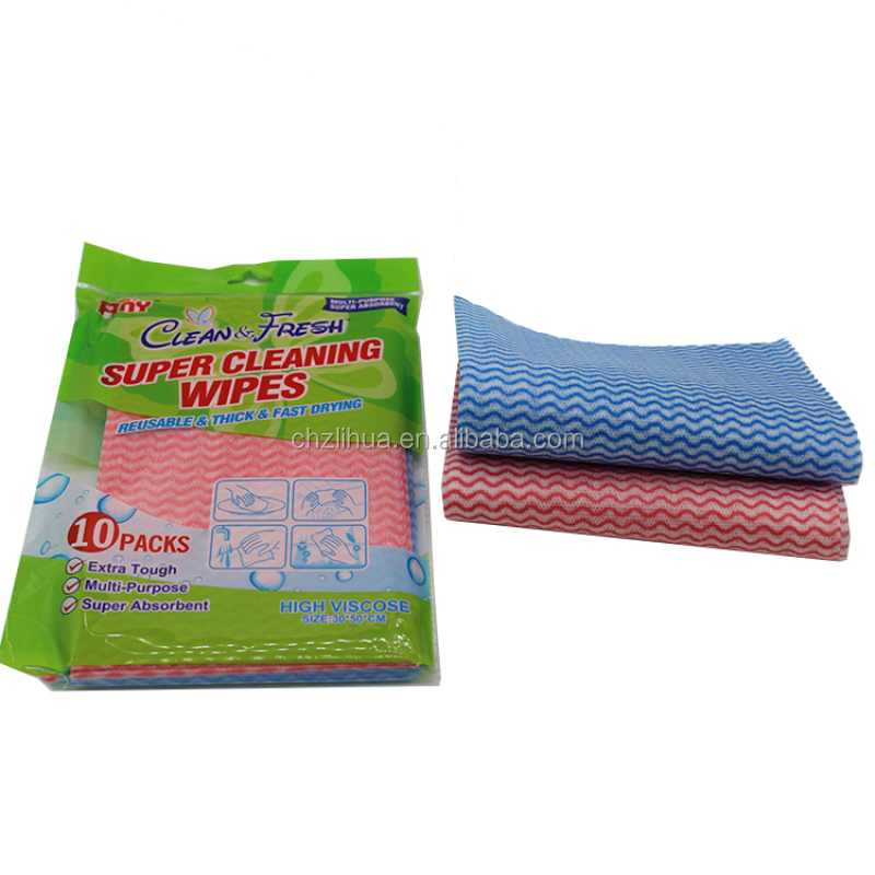 China manufacturer OEM all-purpose sanitary four colors viscose wipes