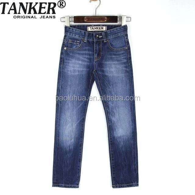 Dk blue OEM/Wholesale HIGH-END100% cotton jeans kids fashion jeans