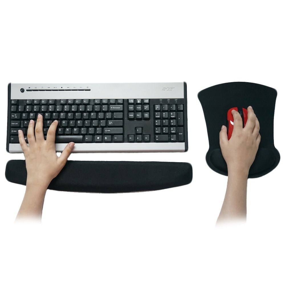 Keyboard Wrist Rest and Mouse Pad with Wrist Rest Support with Memory Foam, Ergonomic Wrist Cushion Support for Your Wrist While Typing - Ideal for Keyboard,Laptop & Computer