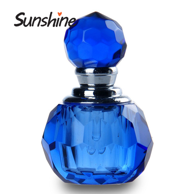 New Arrival Mini Blue Fashion Crystal Atomiser Travel Refillable blue bottle perfume